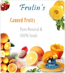 Frutins - Canned food manufacturers, Canned Fruits, Canned Vegetables, Canned food suppliers, Fruit drink companies, Canned Fruit Products.